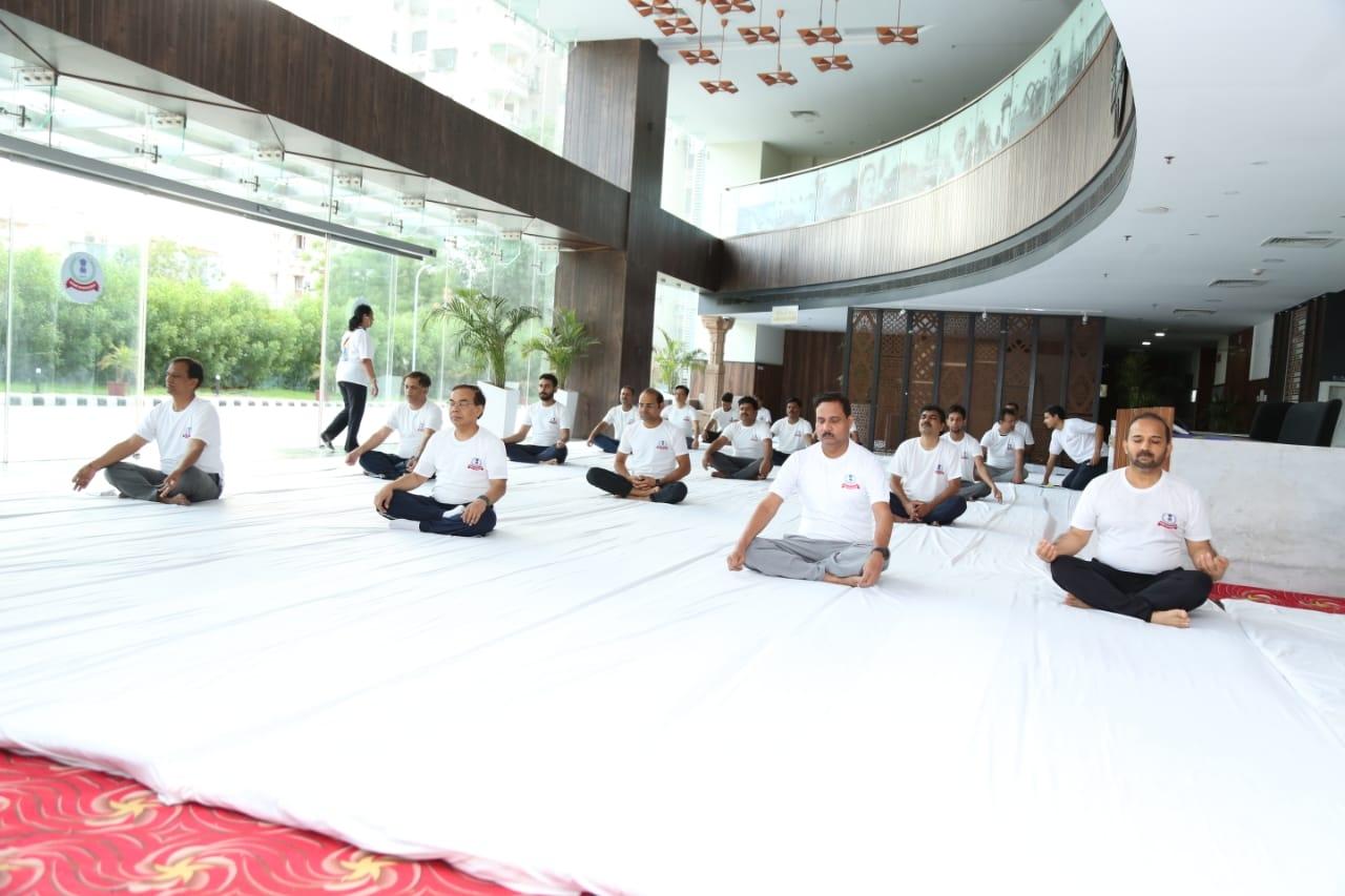 Aayakar bhawan, vejalpur- yoga day