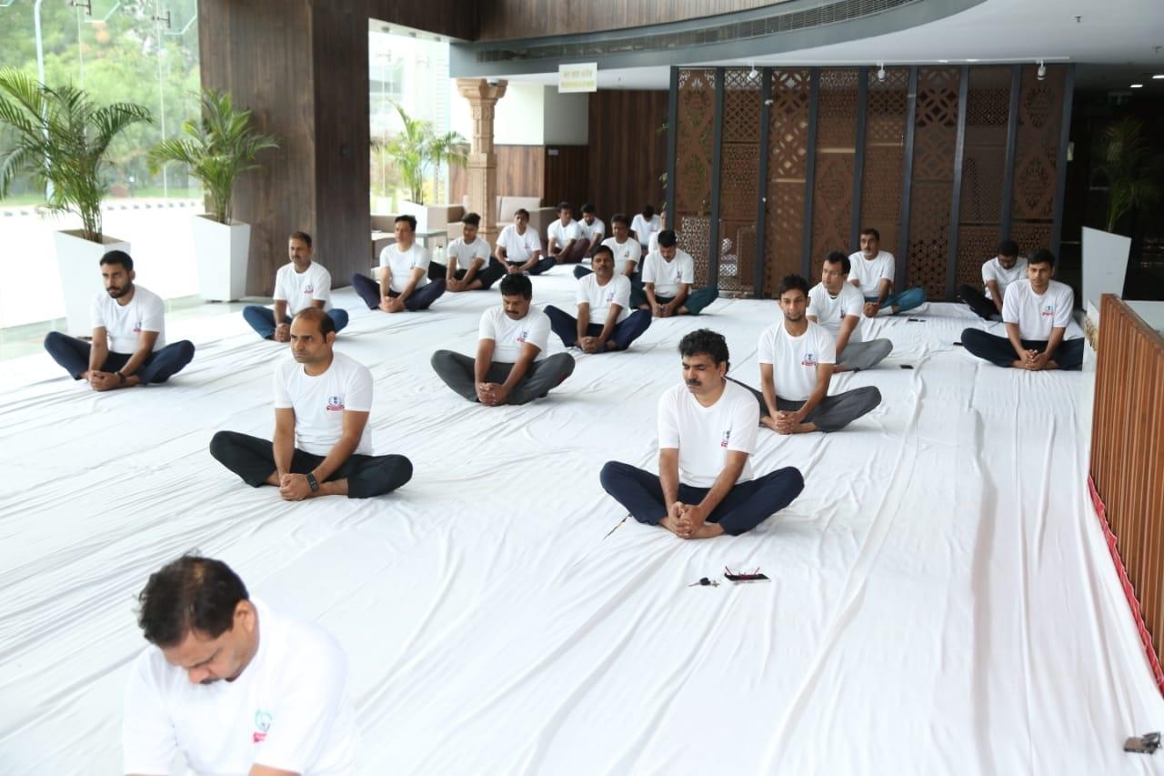 Aayakar bhawan, vejalpur- yoga day2