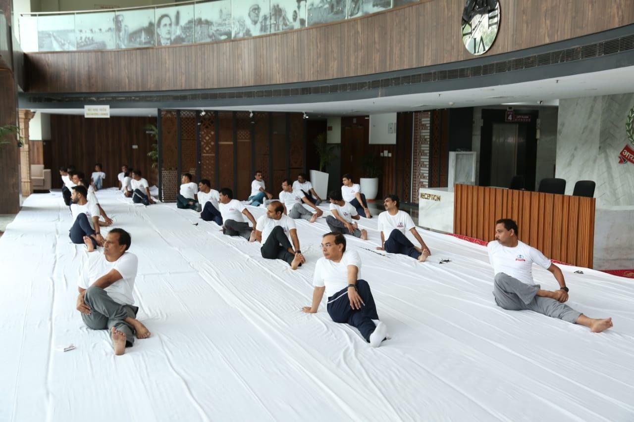 Aayakar bhawan, vejalpur- yoga day3