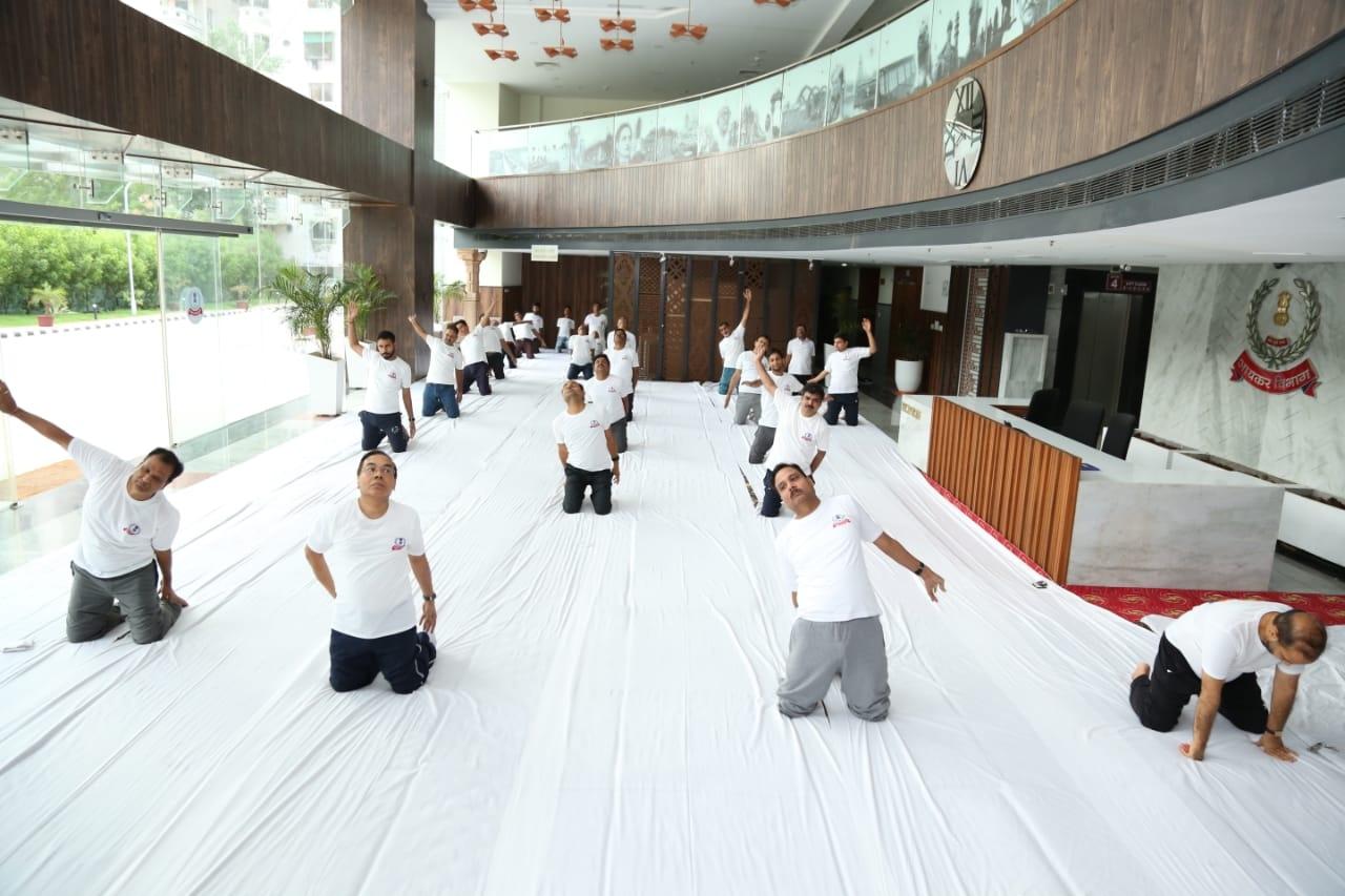 Aayakar bhawan, vejalpur- yoga day5
