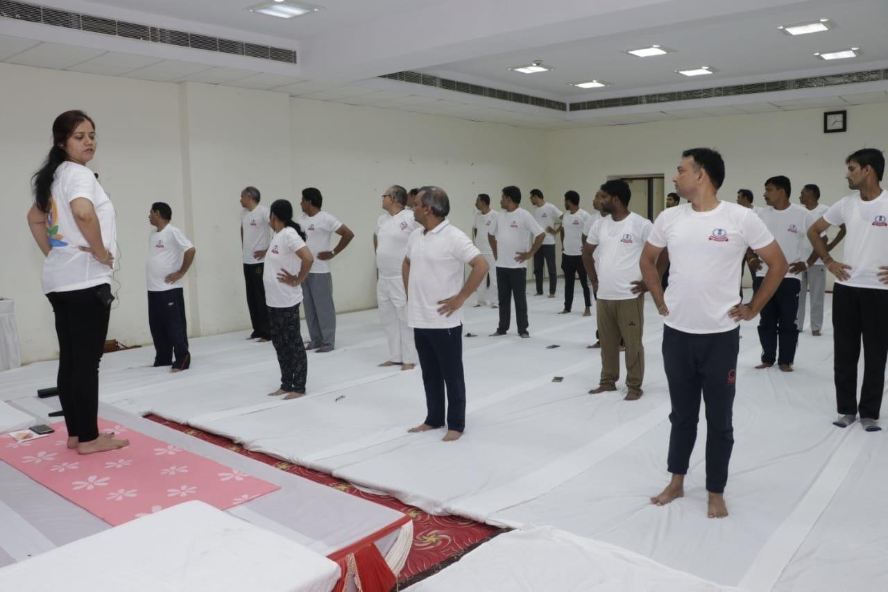 Pratyaksh kar bhawan- yoga day5