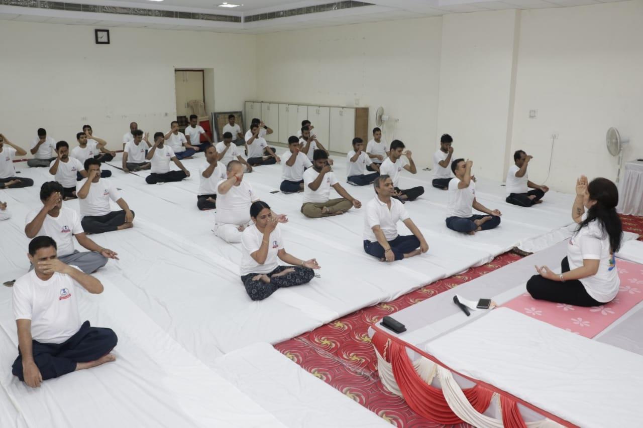 Pratyaksh kar bhawan- yoga day6